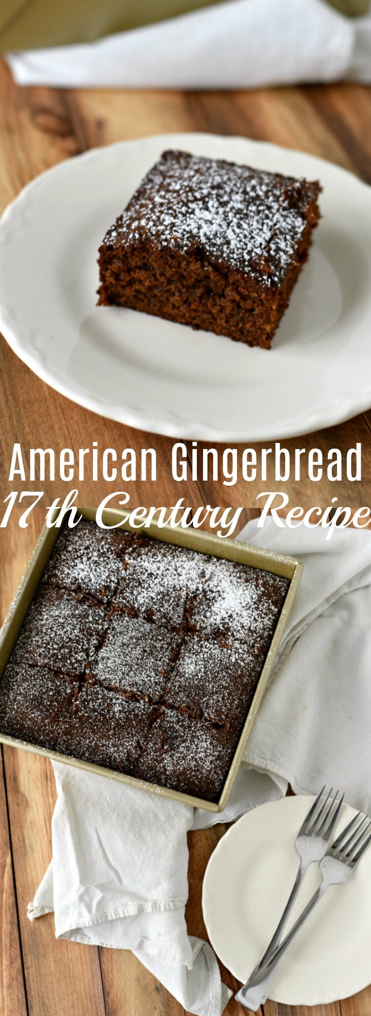 American 17th Century Gingerbread - Historically Hungry. This easy to make historical 17th century gingerbread cake recipe is flavorful, dense, and moist, and still as perfect today as it was back then.