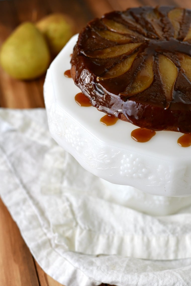 Upside Down Pear Cake