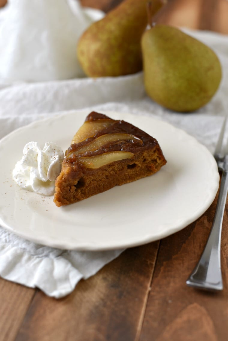 Slice of Pear Gingerbread