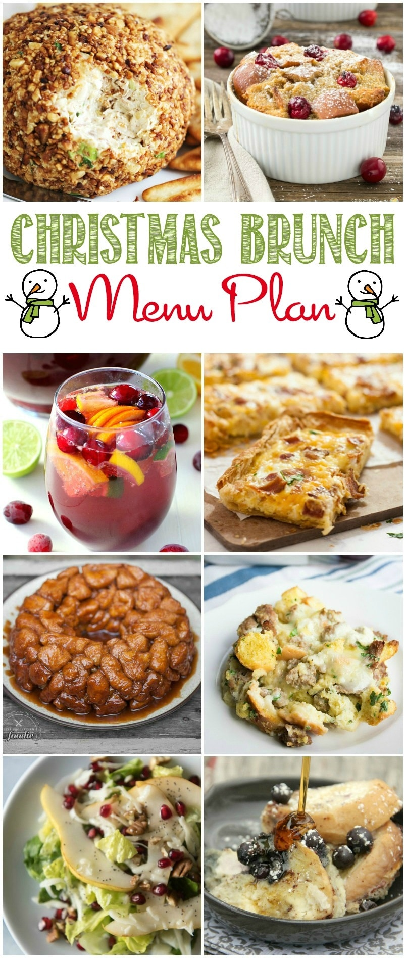 Every recipe you need for an amazing, delicious and perfectly Jolly Christmas Brunch! Your family and friends are sure to love these holiday recipes! This Menu Plan has all the recipes you need for a perfect pre-present opening meal.