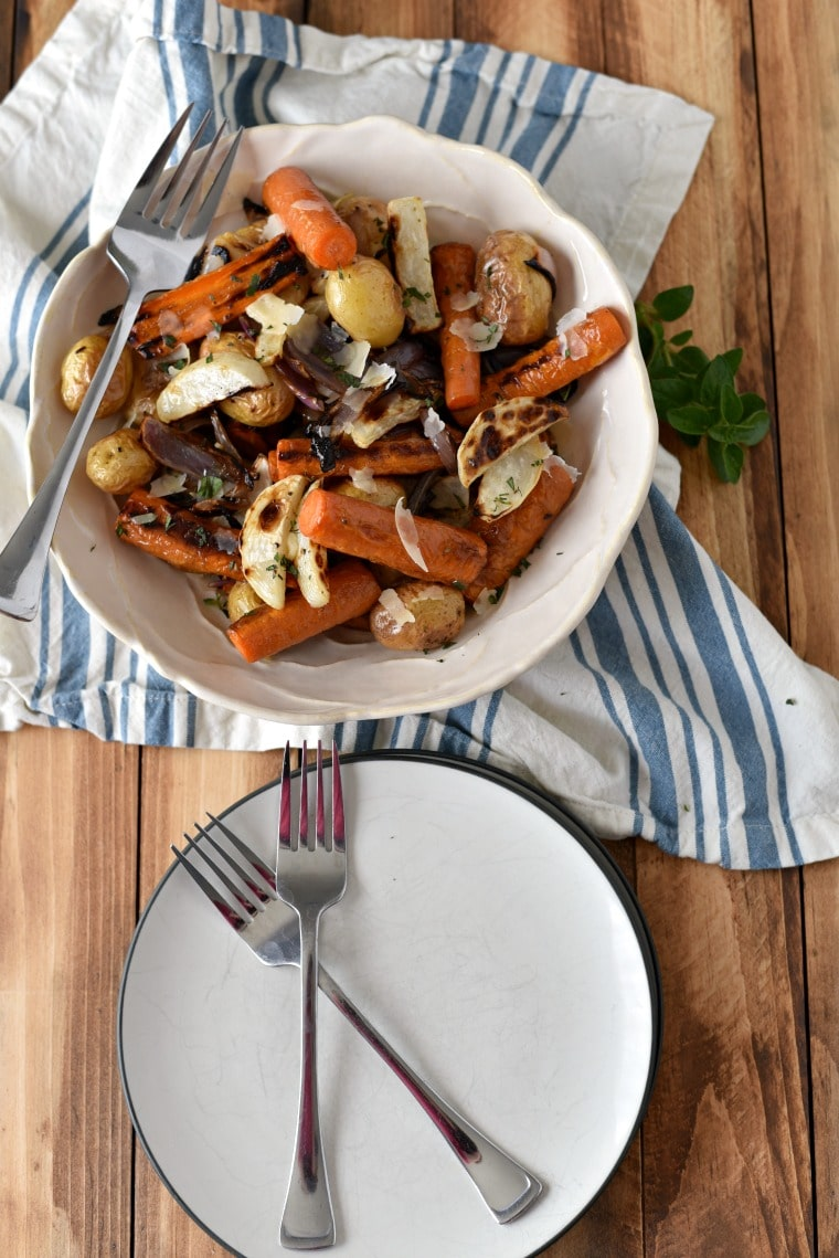 Roasted Bagna Cauda Vegetables
