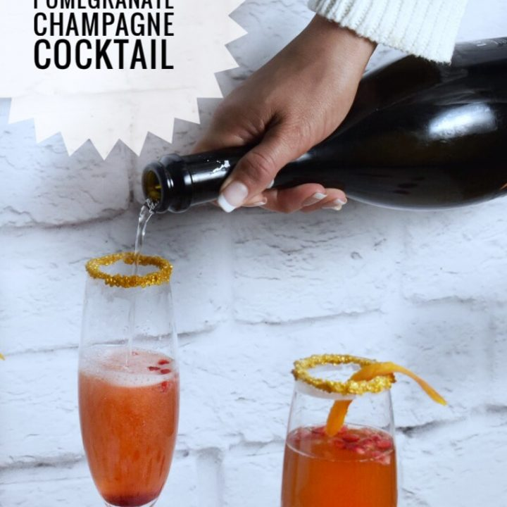 Orange Pomegranate Champagne Cocktail