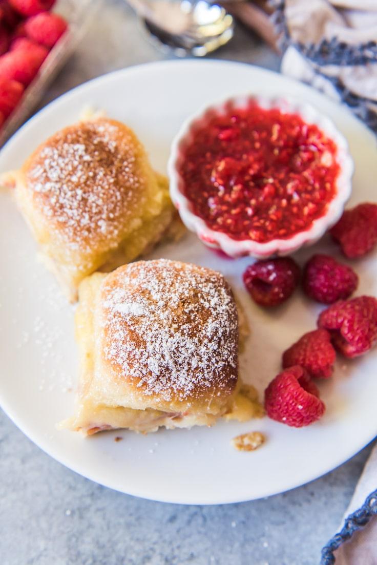 Monte Cristo Sliders with Raspberry Jam