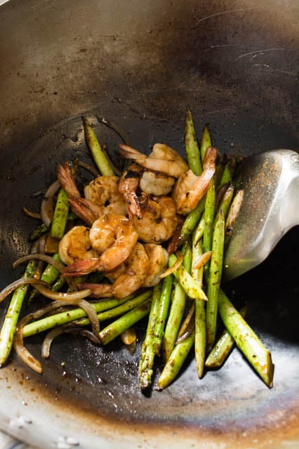20 minute asparagus and shrimp stir fry recipe