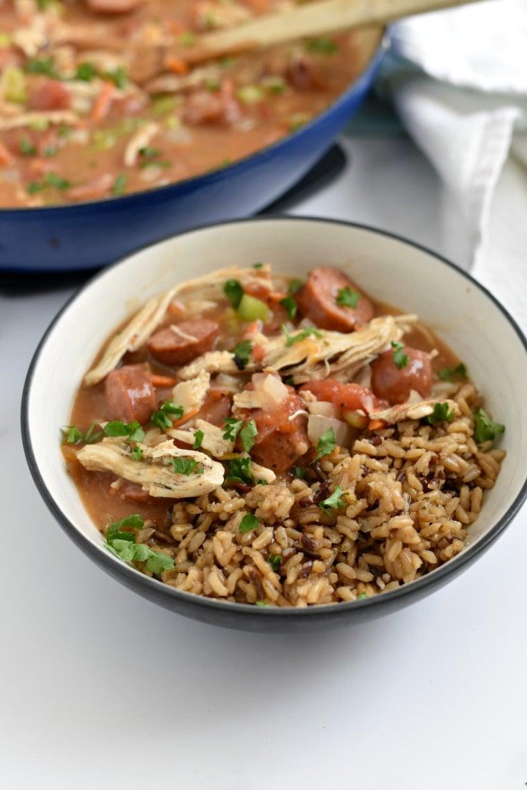 Bowl of Chicken Sausage Gumbo