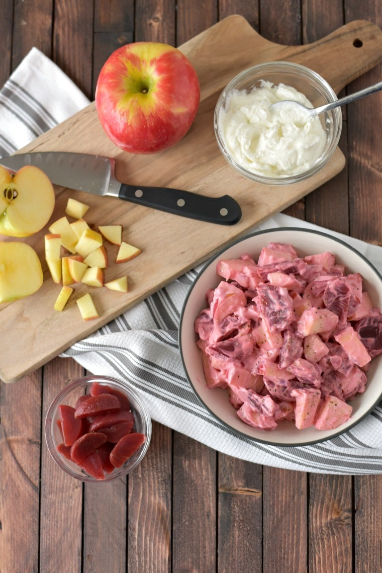 Ingredients for Apple Beet Salad