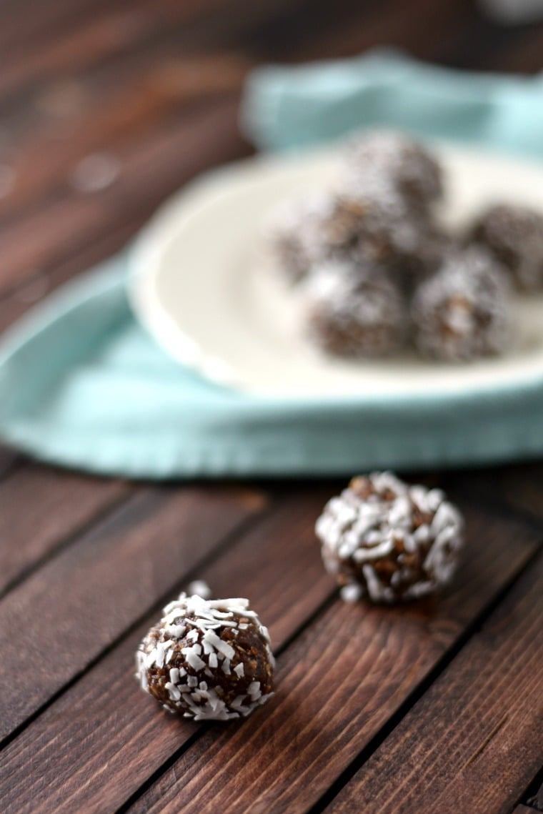 Chocolate Balls on Plate