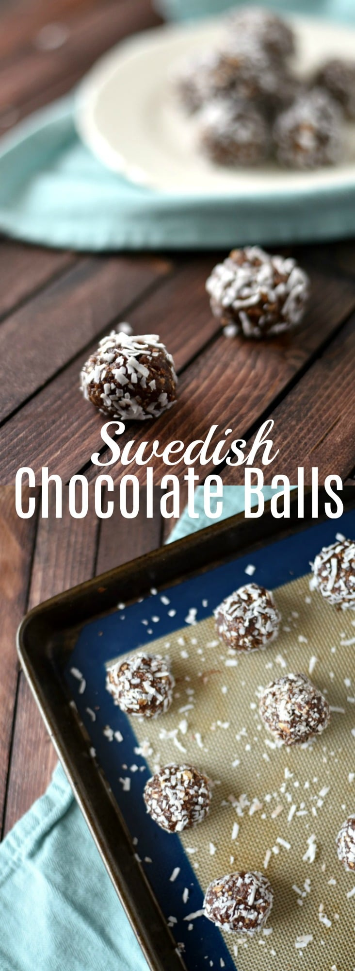 Swedish Chocolate Balls (Chokladbollar)- Easy No Bake Recipe - This no-bake recipe for Swedish Chocolate Balls (also known as Chokladbollar), is very simple to make, & the perfect make-ahead dessert you can do with a child.
