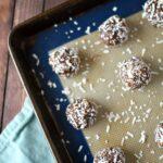 Chocolate Balls on Sheet Pan