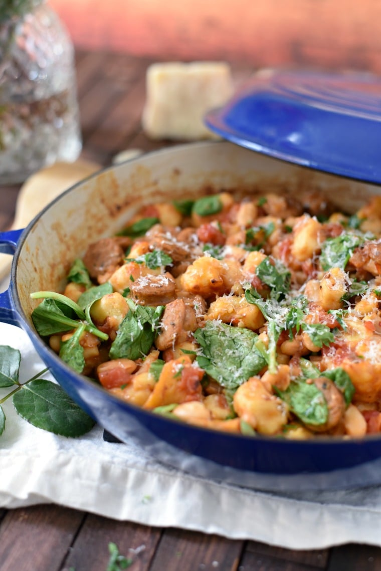 One Pan Gnocchi with Sausage