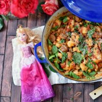 Skillet Ricotta Gnocchi with Sausage and Beans for Princess Aurora - Eat Like A Princess Inspired Recipe