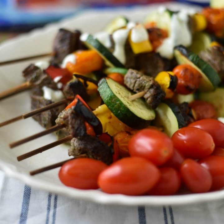 Greek Beef Souvlaki Skewers Recipe
