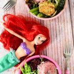 Ariel Doll with Bowls of Mermaid Food