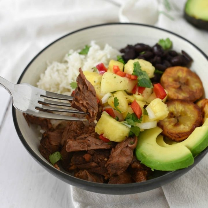 Shredded Cuban Beef Bowl (Slow Cooker)