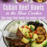 How to plate Cuban Beef Bowls for family