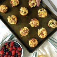 Rainbow Veggie Breakfast Egg Muffins