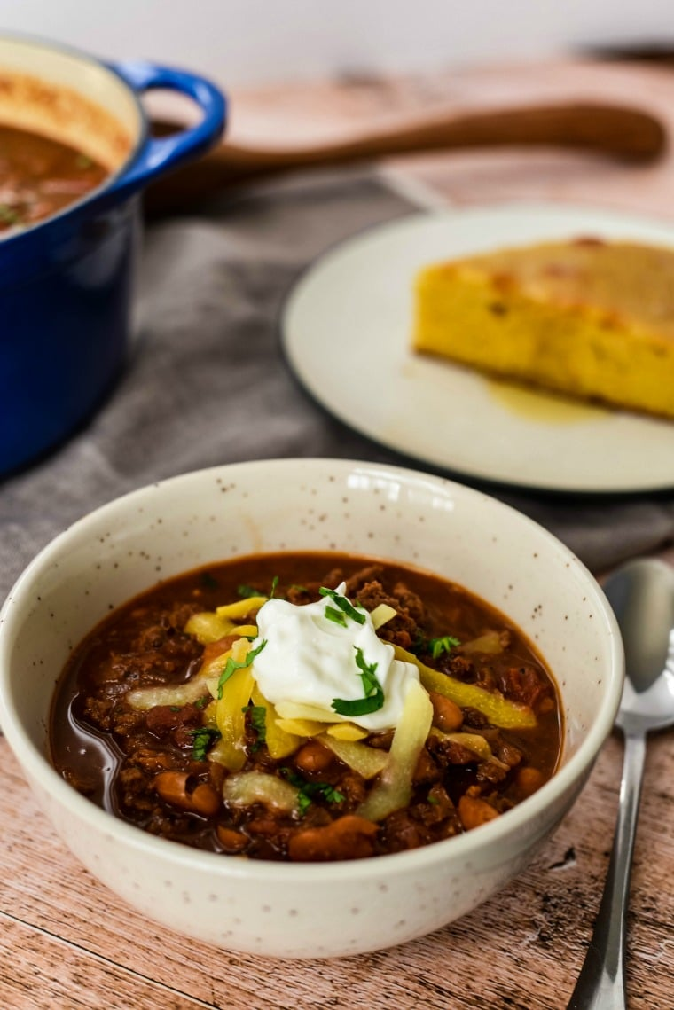 ground bison chili with chocolate