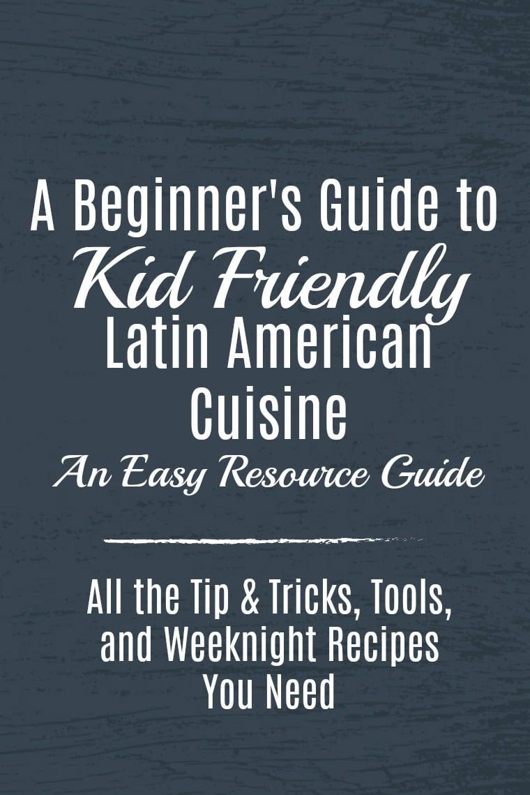 Latin American Cuisine Graphic