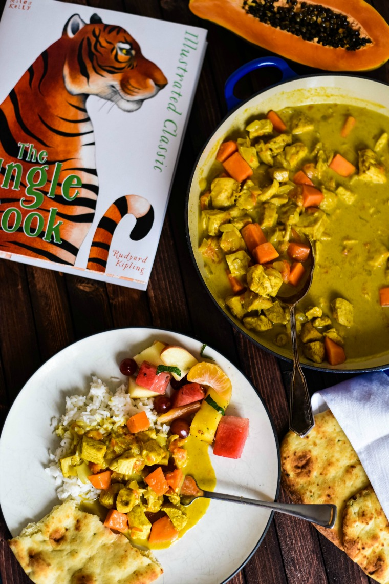 Kids Chicken Curry with Jungle Book