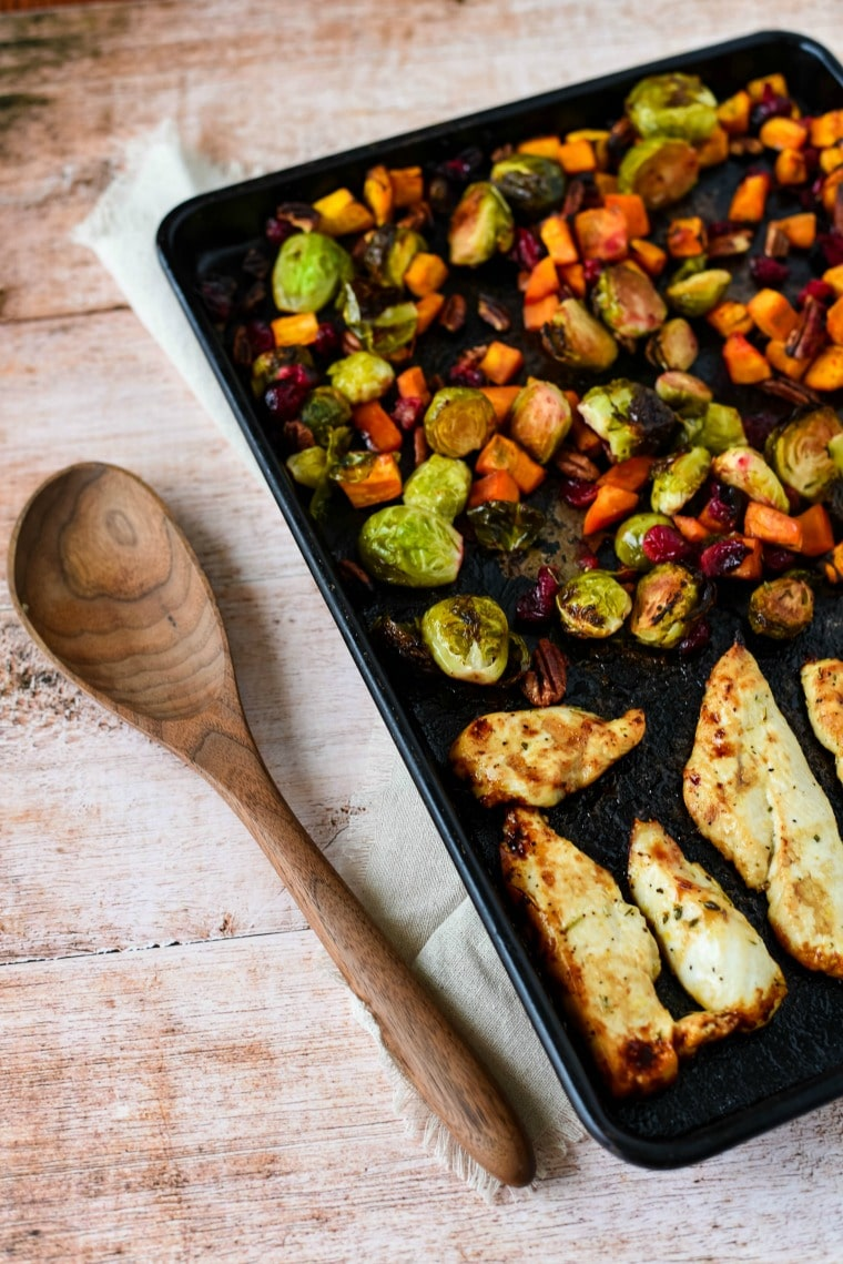 Roasted Chicken and Vegetables on sheet pan