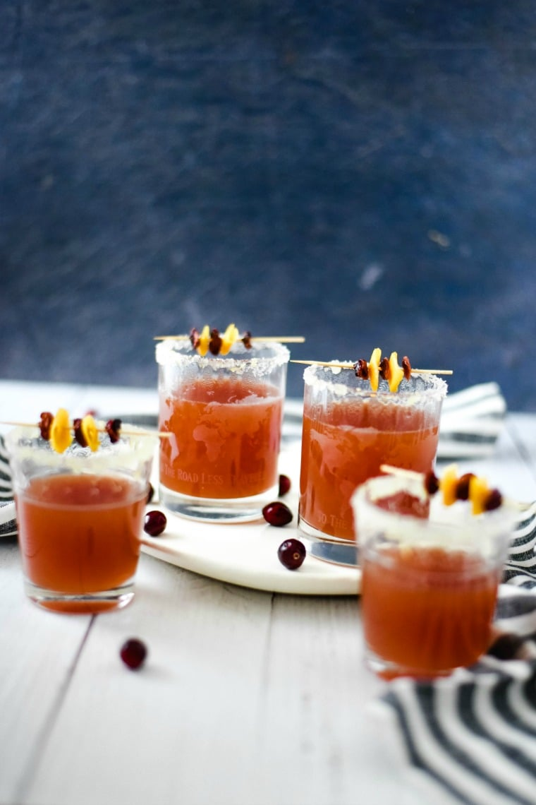 Hot Spiced Cranberry Orange Cocktail