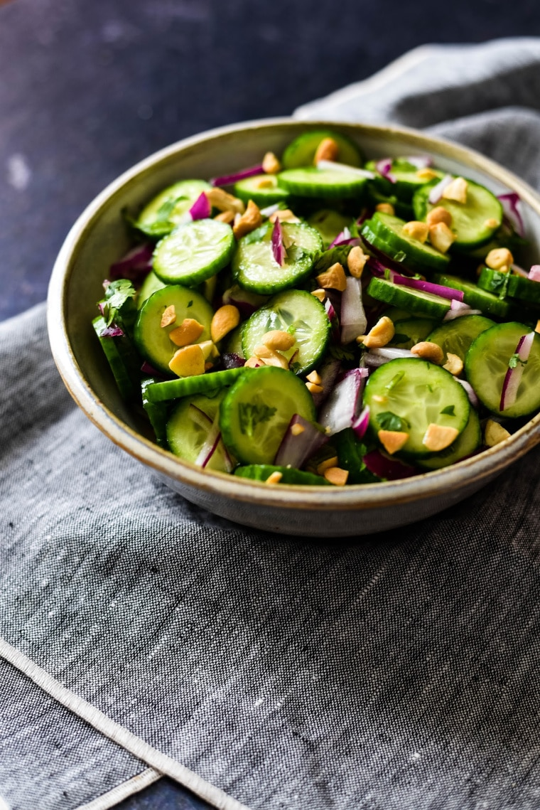 Thai Cucumber Salad Recipe in bowl