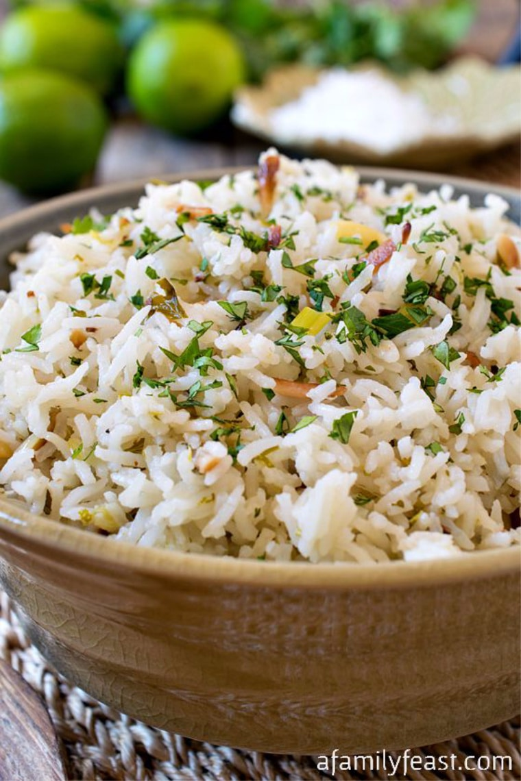 coconut rice in bowl