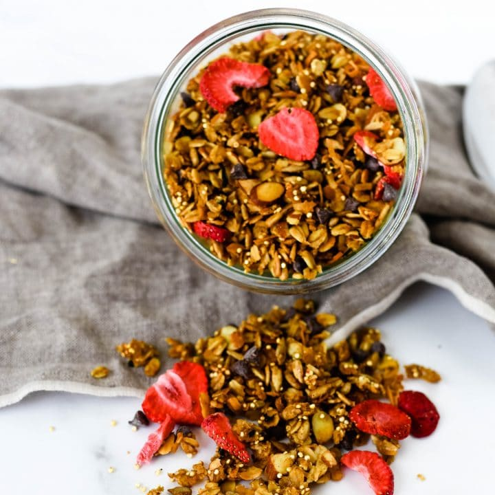 Homemade Granola with Earl Grey and Strawberries