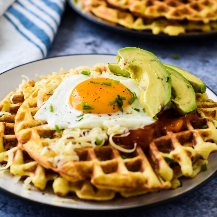 Easy Savory Cornbread Waffles for Dinner - The Gingered Whisk