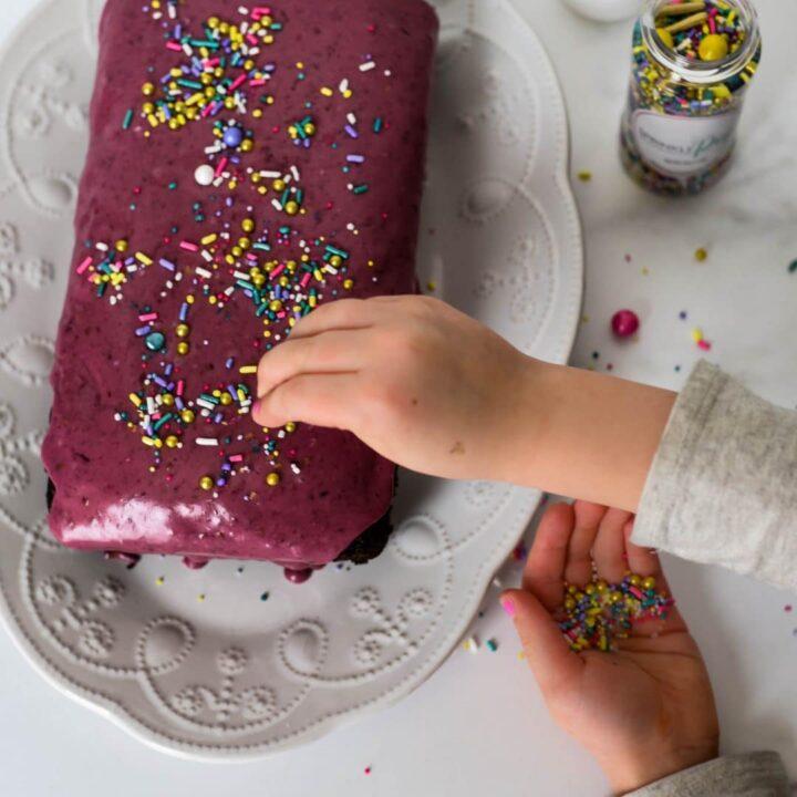 Chocolate Wacky Cake with Blackberry Frosting Recipe