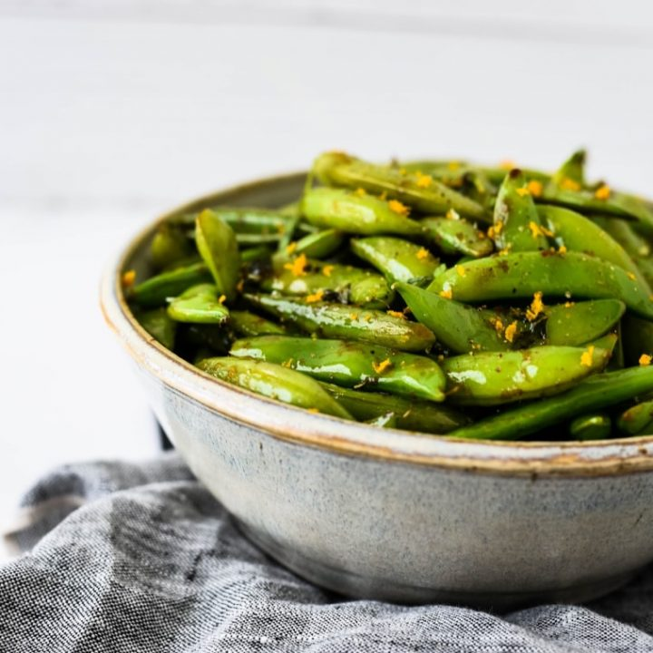 Orange Ginger Sugar Snap Peas Recipe