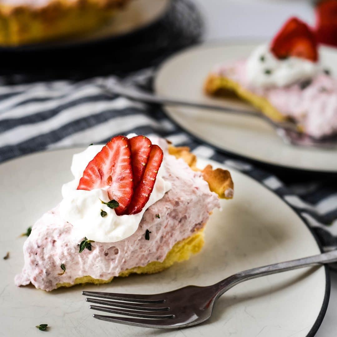 Roasted Strawberry Mousse Tart Recipe