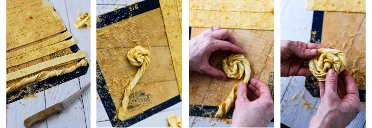 how to roll puff pastry pinwheels