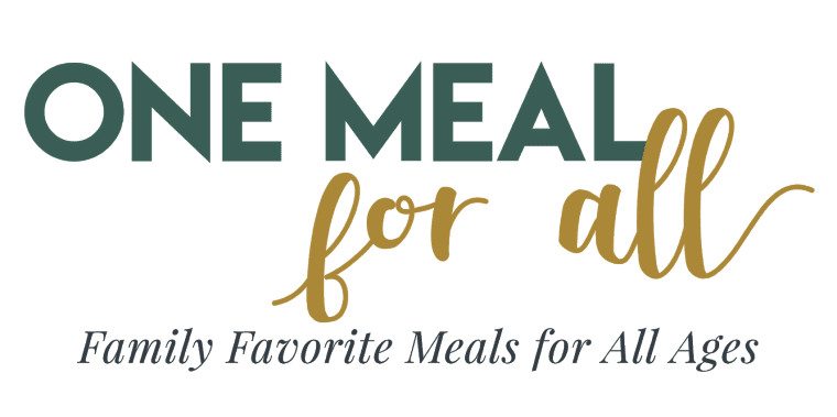 "text reading ""one meal for all: family favorite meals for all ages\"""