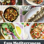 collage of images showing mediterranean meals