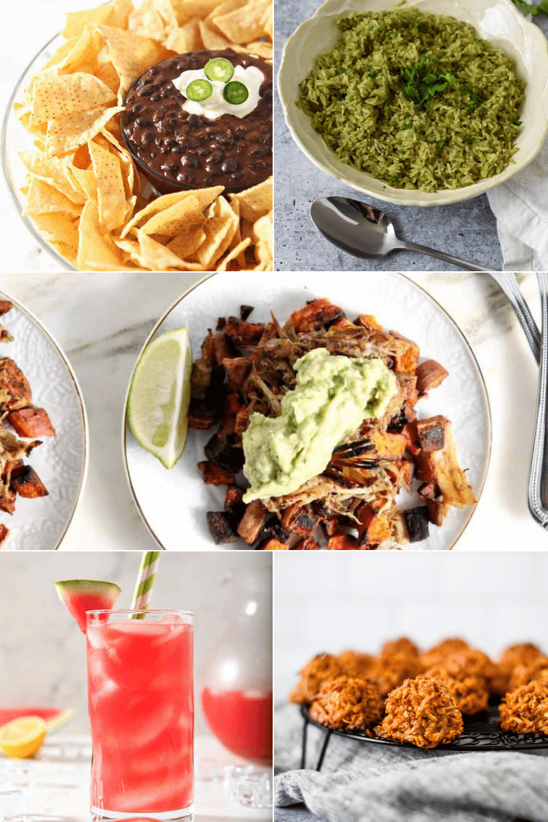 collage of images of mexican food