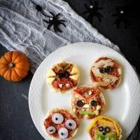 Mini Halloween Pizzas!
