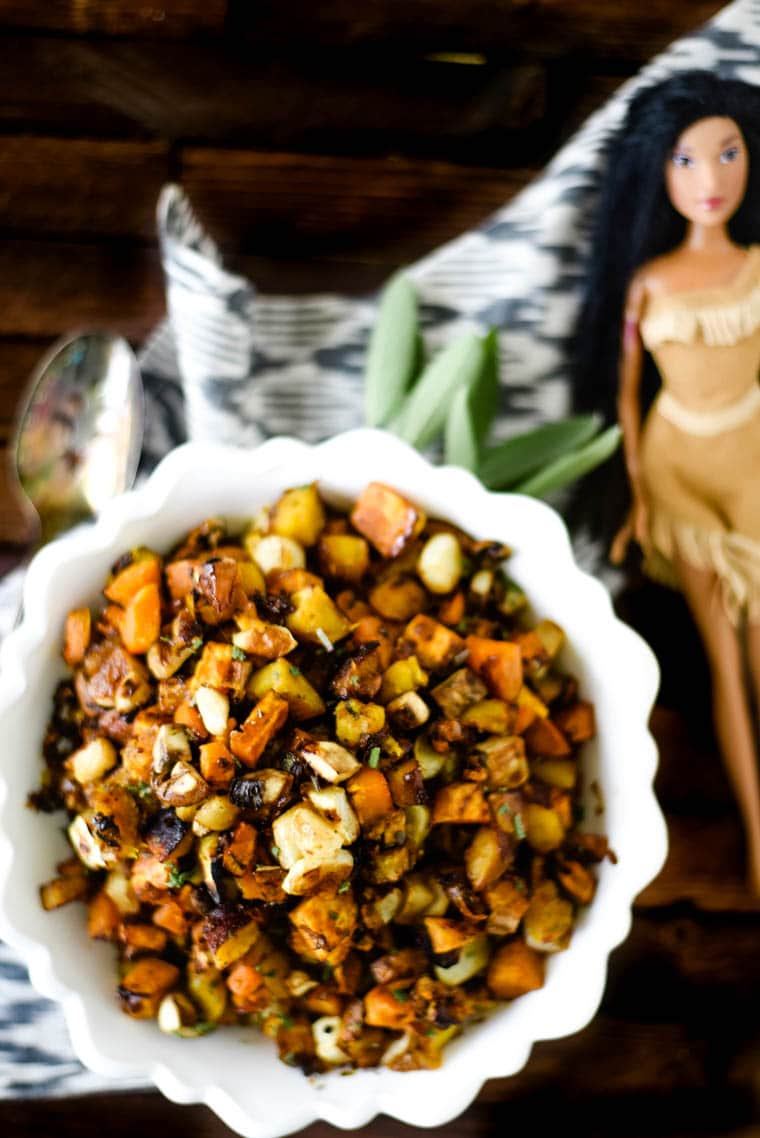 native american inspired recipe for pochahontas - fall vegetables side dish