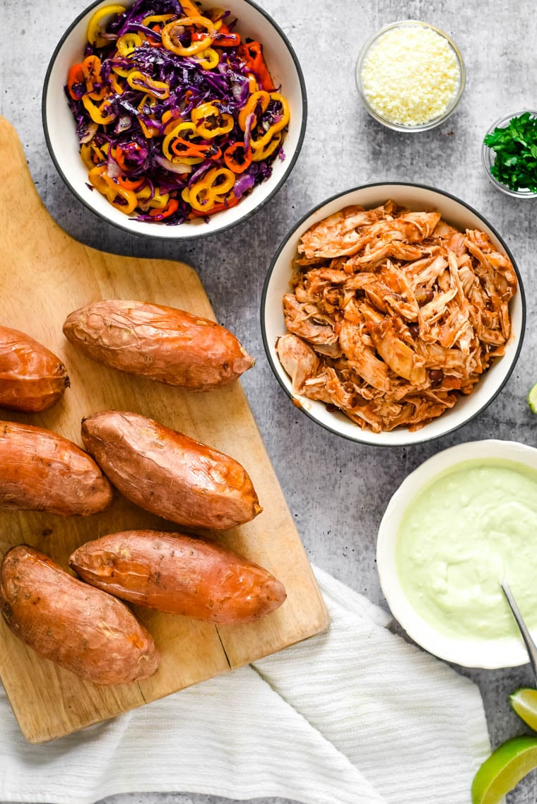 ingredients needed to make mexican stuffed sweet potatoes