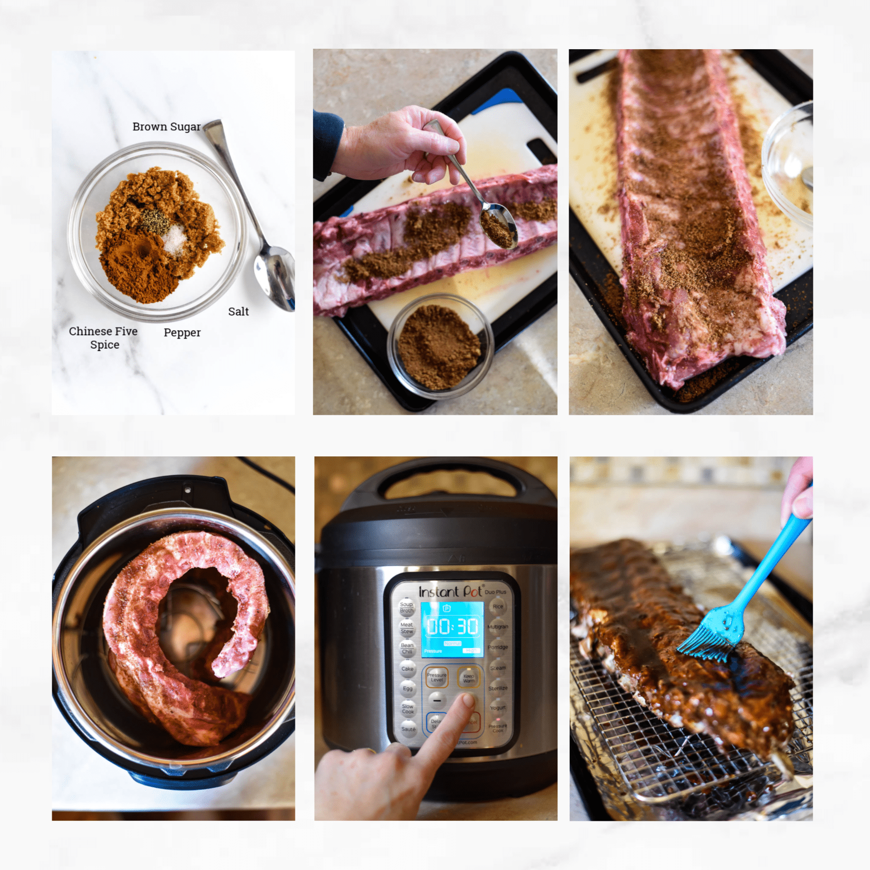 how to make asian sticky ribs collage image