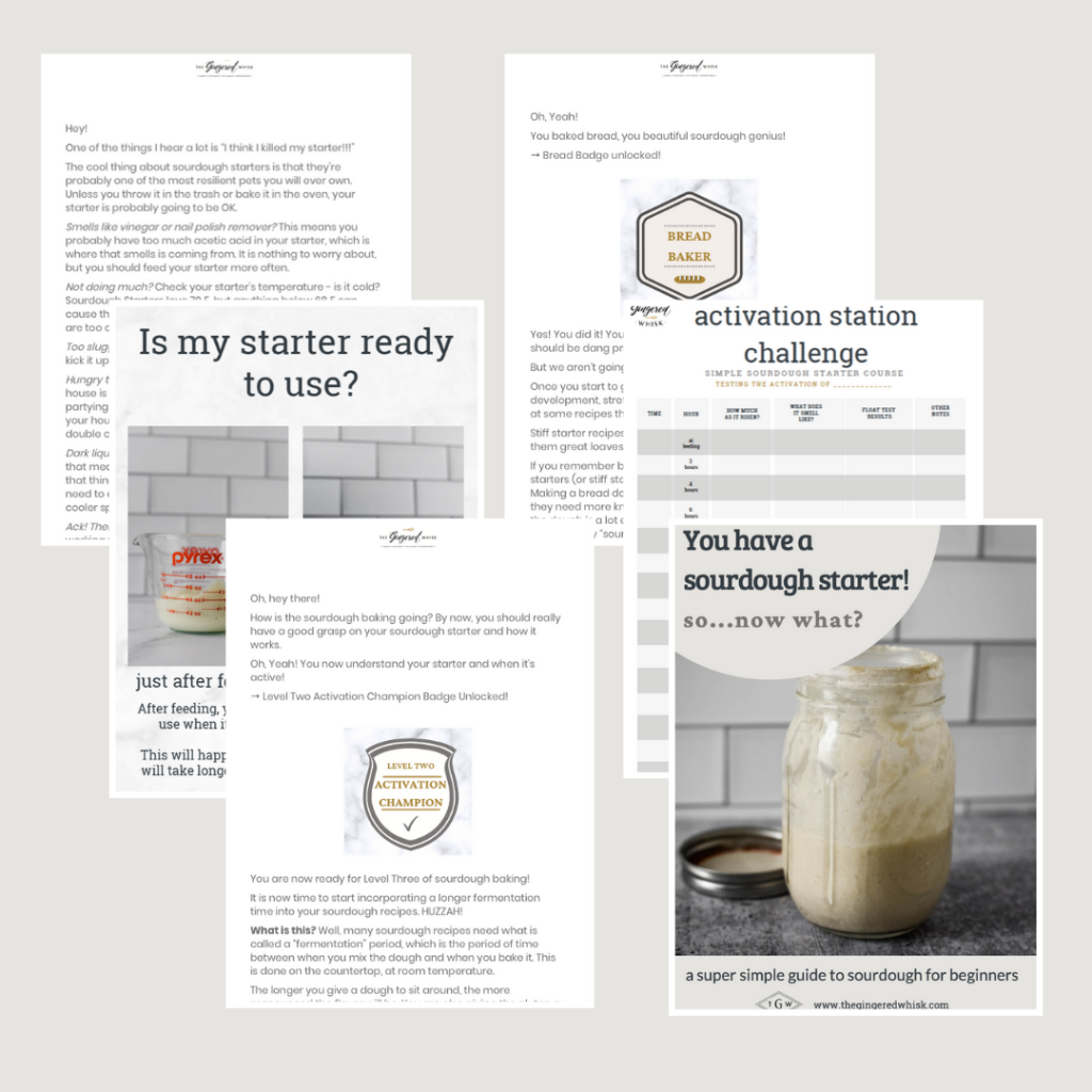 image showing pages of sourdough course