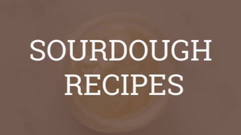 "graphic box that reads ""sourdough recipes"""