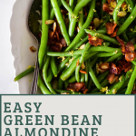 pin image for green beans with almondine (includes text overlay)