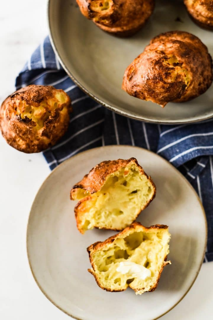 cheese popovers on plate
