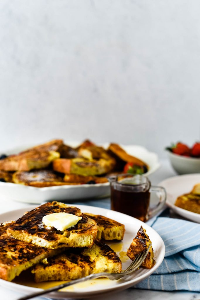 plates with stacks of French toast