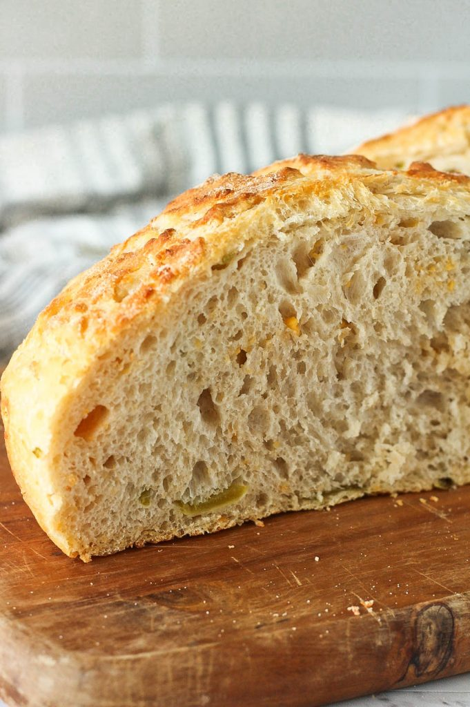 slice of bread showing soft inside crumb